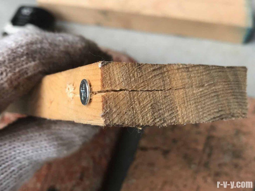 木割れした木材2