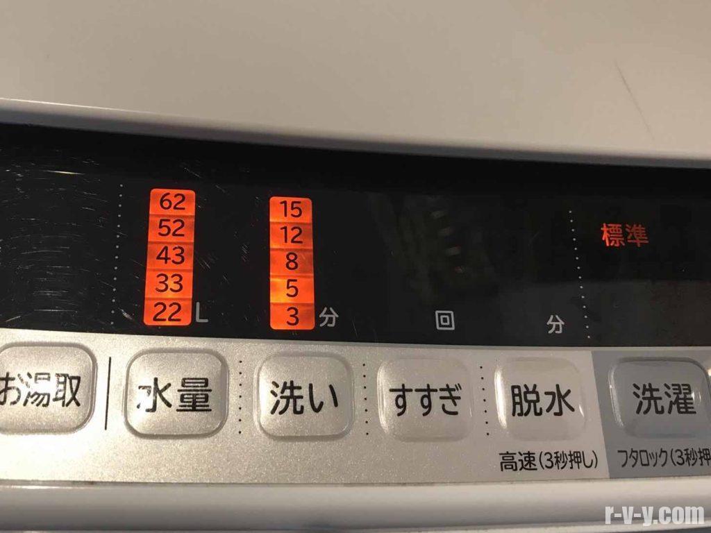 洗濯機の洗い機能